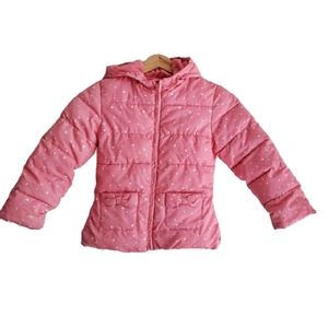 GYMBOREE Kids Puffer Winter Jacket Pink Size 5-6